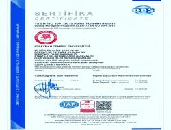 Personel Daire Başkanlığımız ISO 9001:2015 Kalite Yönetim Sistemi Belgesini Aldı